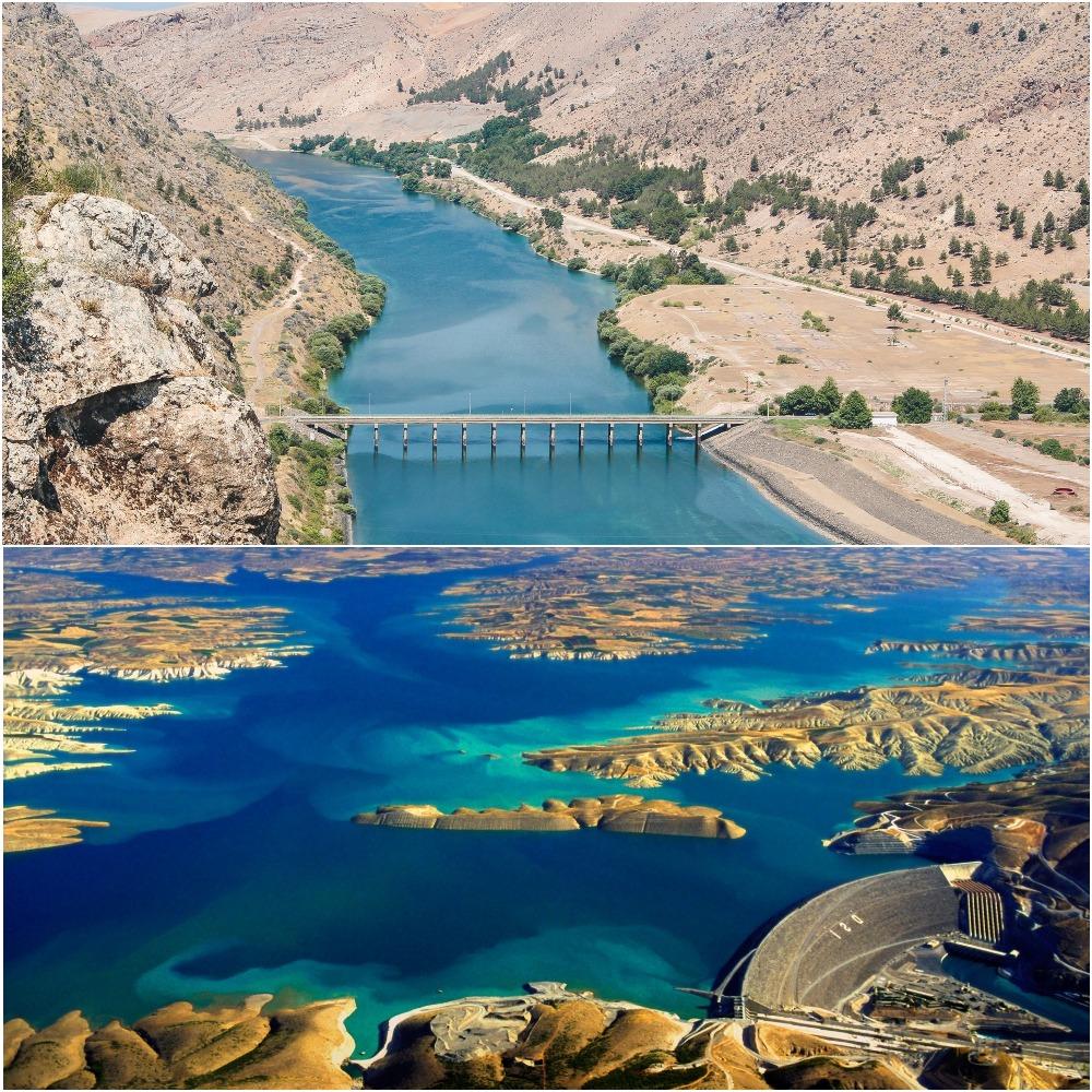 Евфрат на территории Турции