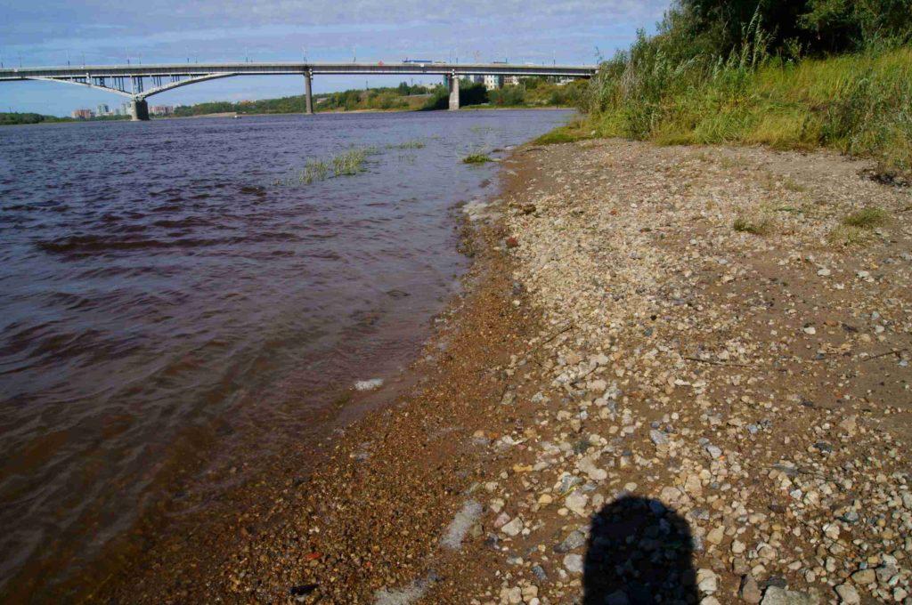 Река Иртышь в Омске