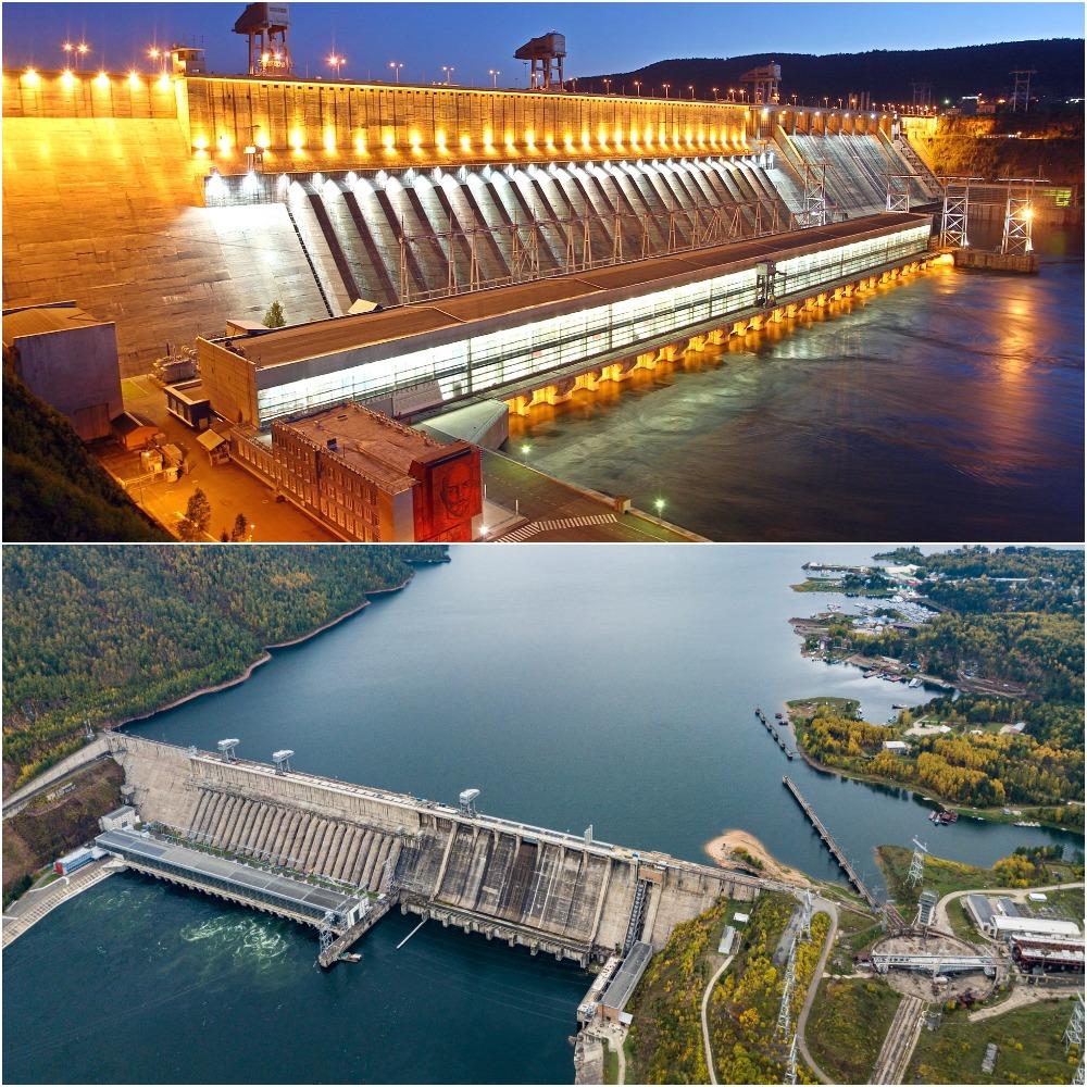 Красноярская ГЭС на реке Енисей