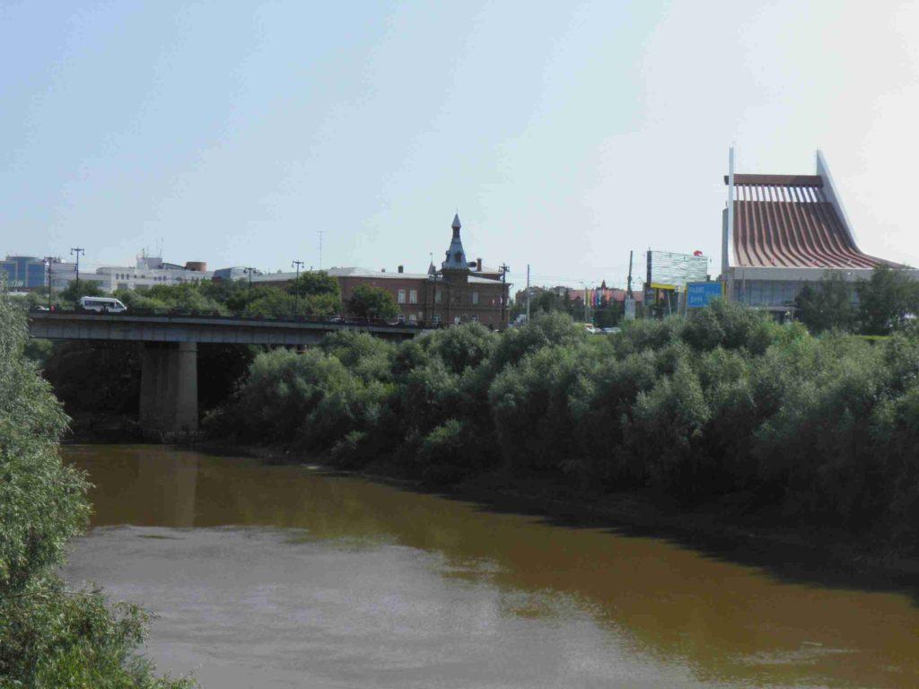 Река Омь в Омске