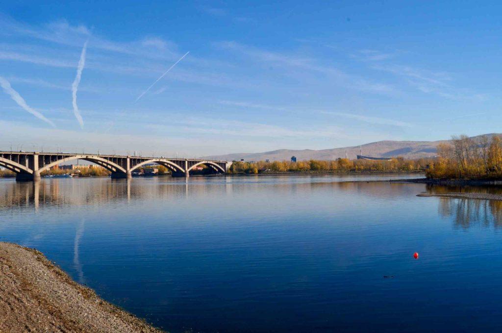 Река Енисей в Красноярске