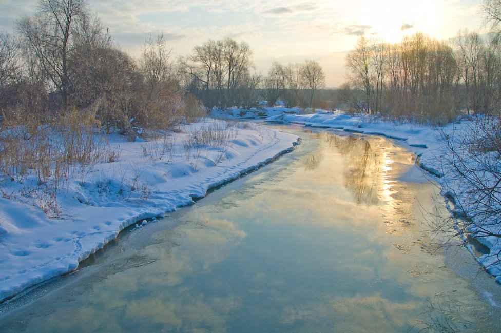Река Рпень в городе Владимир