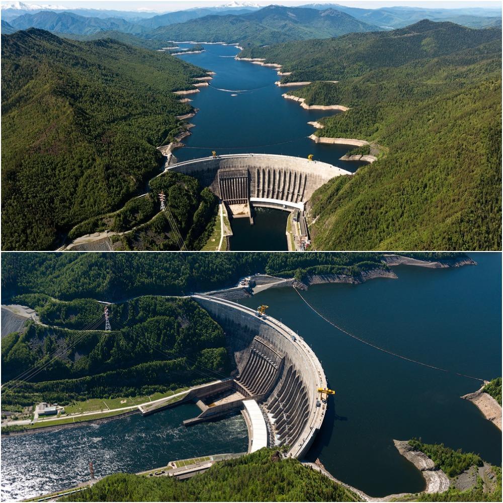 Река Енисей Саяно-Шушенская ГЭС