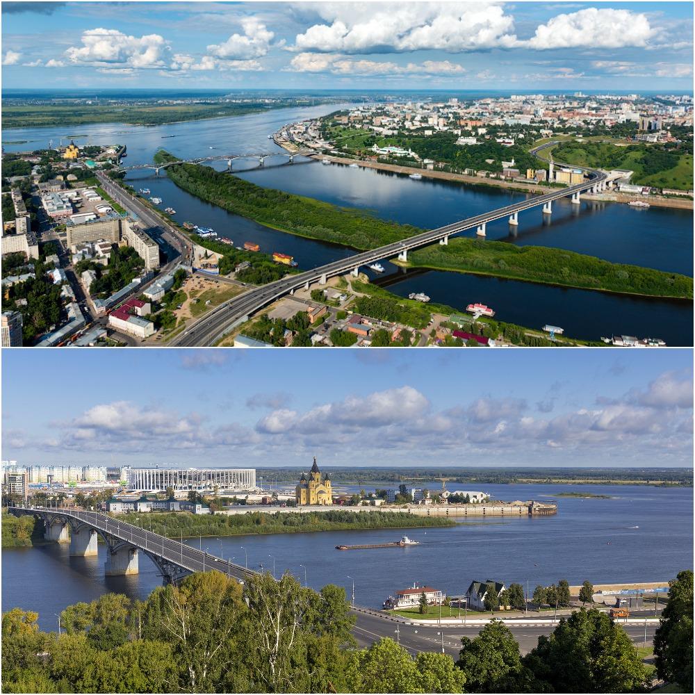 Река Ока в Нижнем Новгороде