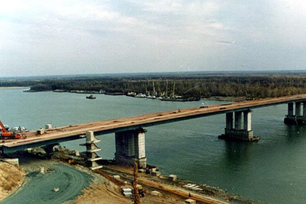 Мост Обь Барнаул