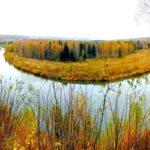 Река Яя осенью