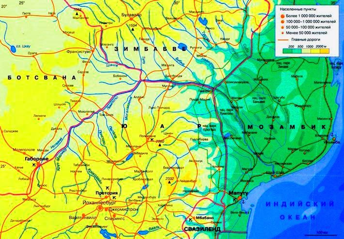 Карта Лимпопо. Картинка