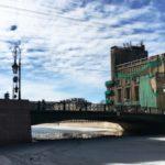 Фонарный мост на реке Мойка. Фото