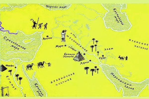 Месопотамия. Карта
