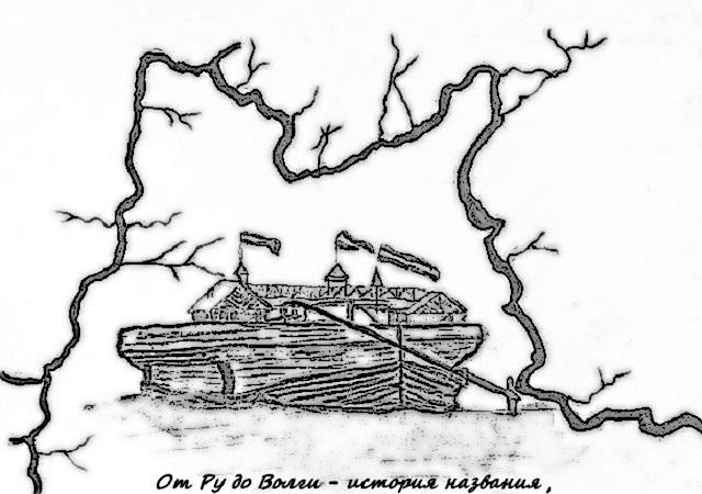 Карта древней реки Волги