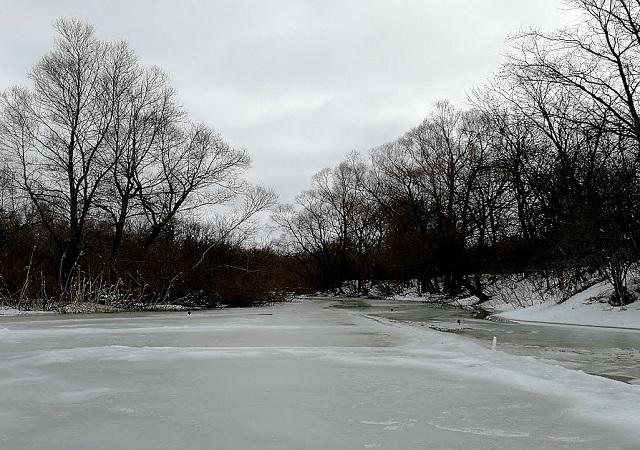 Река Сок в зимой