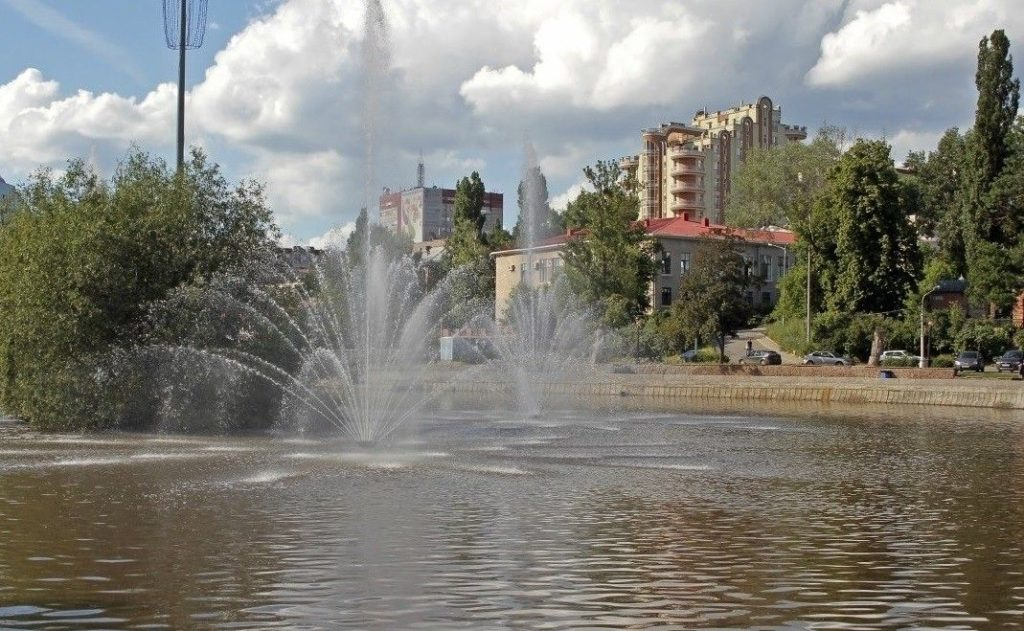 Комсомольский пруд на реке Липовка в Липецке