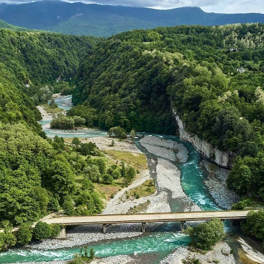 Река Кодори в Абхазии