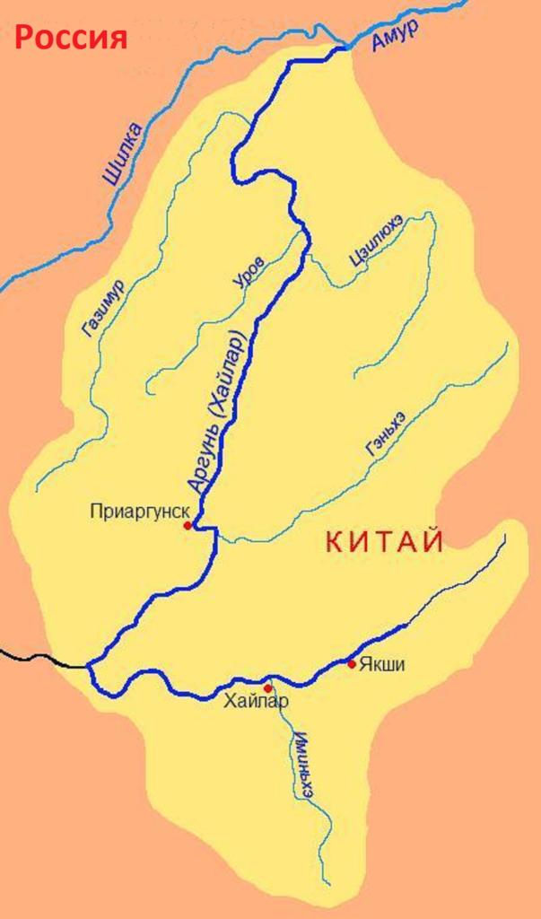 Река Аргунь в забайкальском крае