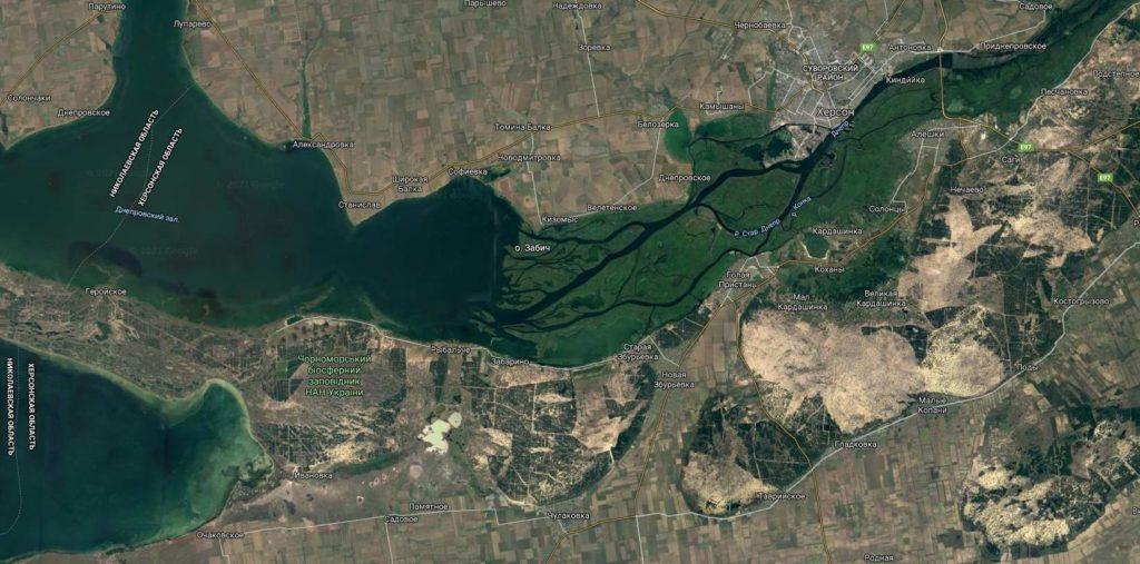 Устье реки Днепр