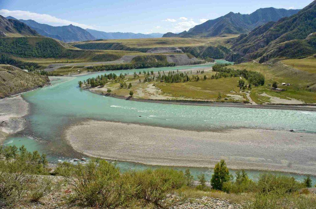 Устье реки в реке