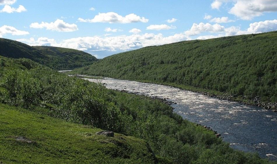 река Йоканьга в Мусрмансой области